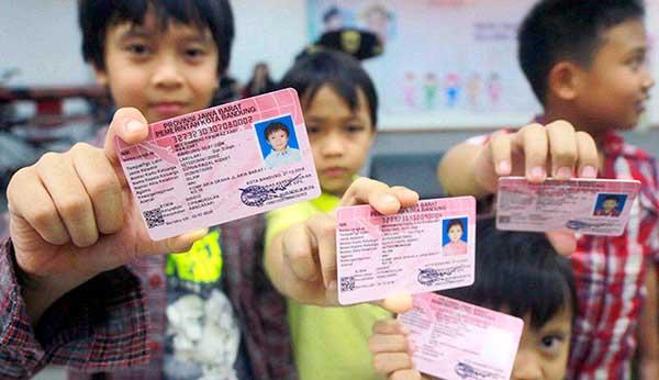 Gambar : Kartu identitas untuk anak